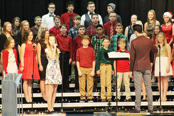 Photo by RR Best Holiday Music Program The Sullivan Middle School choir performed in holiday concert Dec 10 before a capacity crowd in the middle school gymnasium. Music director Jeff Thomas and band director Brock Freece prepared the program.