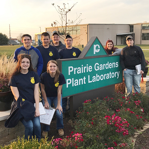 Photo furnished Parkland Hosts FFA Agronomy CDE Members of the Windsor FFA Chapter attended the Section 16 FFA Agronomy CDE at Parkland Community College November 15. The members were tasked with identifying different species of crops and weeds, reading maps of soil types, and judging groups of crops. As a team, the Windsor FFA Chapter placed fourth overall. Tristan Boehm placed in the top 10 in Section 16 as an individual.  Members of the team include Kendra Reed, Hannah Morlen, Gage Sattler, Mason Campbell, Tristan Boehm, Brandon Milligan, Whitney Pepperdine, and Colby Kidwell.